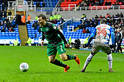 Luke Freeman (7) of Queens Park Rangers on the attack during the EFL Sky Bet Championship match between Reading and Queens Park Rangers at the Madejski Stadium, Reading, England on 30 March 2018. Picture by Graham Hunt.