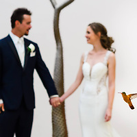Maria & Greg's amazing portrait with a humming bird @ the Excellence Isla Mujeres Resort in Cancun, Mexico. Fearless Photographer Award Photo by: Melissa Suneson