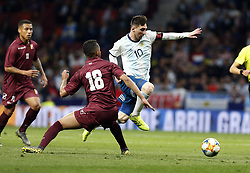 March 22, 2019 - Madrid, Madrid, Spain - Argentina's Lionel Messi seen in action during the International Friendly match between Argentina and Venezuela at the wanda metropolitano stadium in Madrid. (Credit Image: © Manu Reino/SOPA Images via ZUMA Wire)