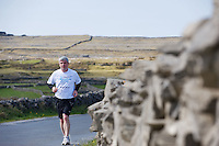 A weekend of glorious weather welcomed approximately 150 people from all over the country and abroad to Inis Mor to participate in the annual Aer Arann half marathon.  Over the past ten years people have walked and ran the roads of Inis Mor to raise in excess of 1.2 million to purchase vital life saving equipment for sick children in both Crumlin and Temple Street hospitals.  Aer Arann's Padraic O Ceidigh took part himself . Photo:Andrew Downes.