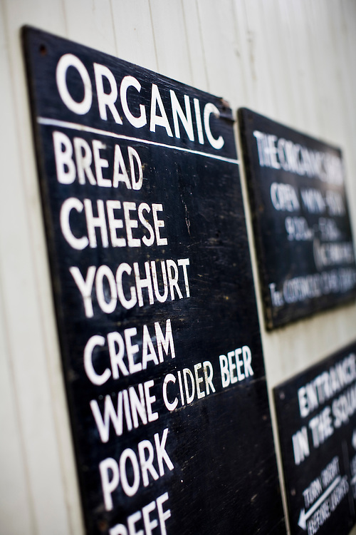 Organic Food Sign, Stow-on-the-Wold