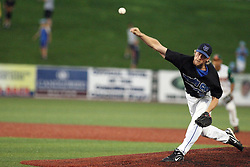 11 July 2012:  Dustin Williams (Windy City Thunderbolts) during the Frontier League All Star Baseball game at Corn Crib Stadium on the campus of Heartland Community College in Normal Illinois