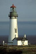 Yaquina Head Lighthouse, 1872 tallest on the Oregon Coast, over the Pacific Ocean, near Newport, Oregon.