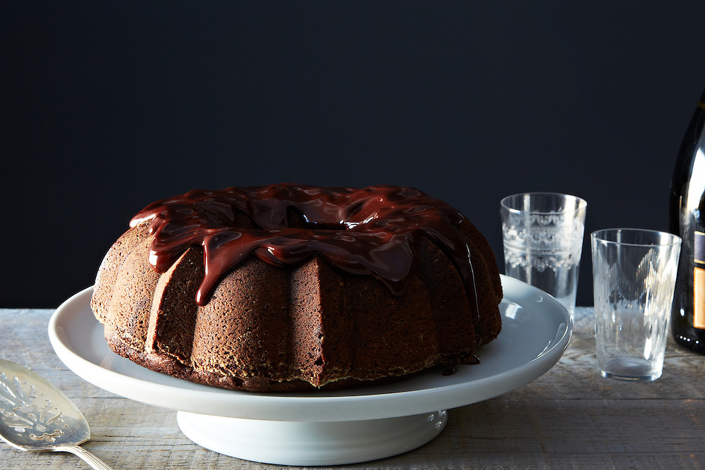 Chocolate Mashed Potato Cake with Ganache
