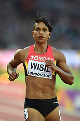August 8, 2017 - London, England, United Kingdom - Toea WISIL, Papua New Guinea, during 200 meter  heats in London at the 2017 IAAF World Championships athletics on August 8, 2017. (Credit Image: © Ulrik Pedersen/NurPhoto via ZUMA Press)