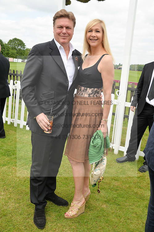 TANIA BRYER and ROD BARKER at the Cartier Queen's Cup Polo final at Guard's Polo Club, Smiths Lawn, Windsor Great Park, Egham, Surrey on 14th June 2015