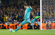 Asmir Begović keeps a clean sheet during the Champions League match between Chelsea and Maccabi Tel Aviv at Stamford Bridge, London, England on 16 September 2015. Photo by Andy Walter.