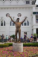 Paddock area and statue of Pat Day, a famous jockey, Churchill Downs, Louisville, Kentucky