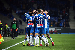 January 4, 2019 - Barcelona, Spain - Borja Iglesias goal celebration during the match between RCD Espanyol and CD Leganes, corresponding to the week 18 of the Liga Santander, played at the RCDE Stadium on 04th January 2019 in Barcelona, Spain. (Credit Image: © Joan Valls/NurPhoto via ZUMA Press)
