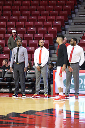27 January 2018:  It was Coaches vs. Cancer night at Redbird Arena with all the coaches wearing sneakers in lieu of dress shoes. during a College mens basketball game between the Valparaiso Crusaders and Illinois State Redbirds in Redbird Arena, Normal IL