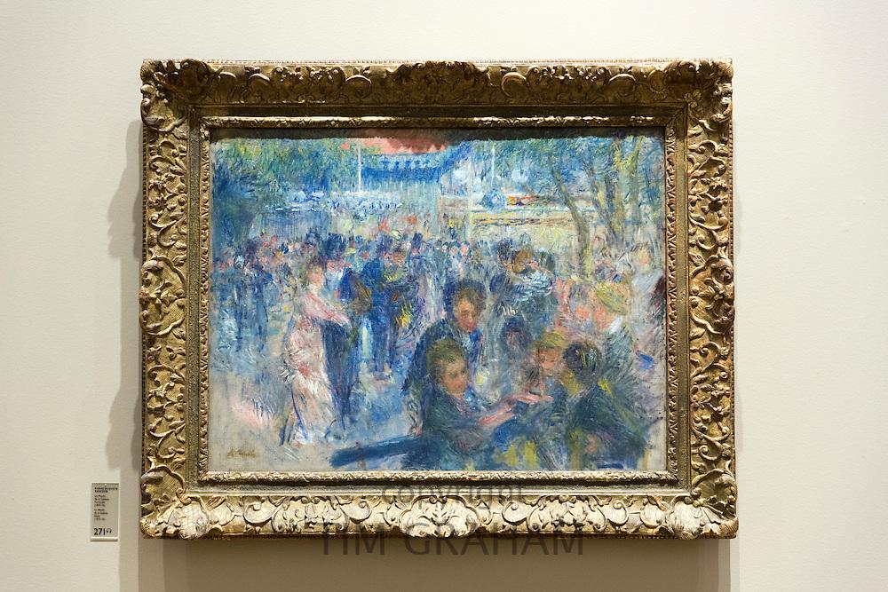 Impressionist art Auguste Renoir painting La Moulin de la Galette Study 1875-76 in French Gallery at Ordrupgaard Museum, Denmark