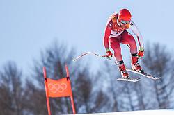 February 15, 2018 - Jeongseon, Gangwon, South Korea - Mauro Caviezel of Switzerland  competing in mens downhill at Jeongseon Alpine Centre at Jeongseon , South Korea on February 15, 2018. (Credit Image: © Ulrik Pedersen/NurPhoto via ZUMA Press)