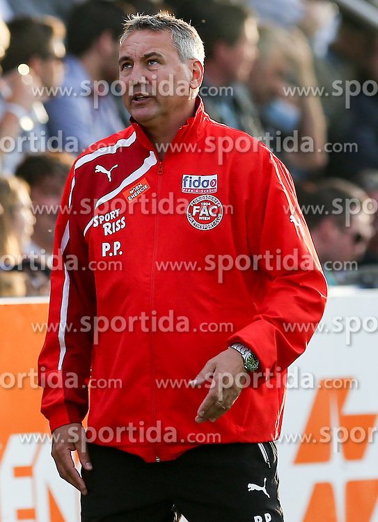 29.05.2015, Sportplatz FAC, Wien, AUT, 2. FBL, Floridsdorfer AC vs Lask Linz, 36. Runde, im Bild Peter Pacult (Floridsorfer AC, Trainer) // during Austrian Football Second Bundesliga Match, 36th round, between Floridsdorfer AC and Lask Linz at the Sportplatz FAC, Vienna, Austria on 2015/05/29. EXPA Pictures © 2015, PhotoCredit: EXPA/ Alexander Forst