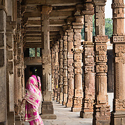 Carved columns in the Qutub Minar complex, Delhi