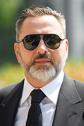 © Licensed to London News Pictures. 22/05/2018. London, UK. DAVID WALLIAMS attends the funeral of television presenter Dale Winton at Commonwealth Church in Marylebone, London. Dale Winton, who was found dead at his home on April 18, was famous for presenting Supermarket Sweep and National Lottery game show. Photo credit: Ben Cawthra/LNP