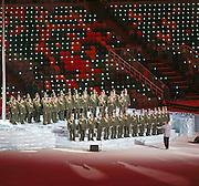 07.02.2014. Sochi, Russia. Opening Ceremonies for the XXII Olympic Winter Games Sochi 2014. FISHT Stadium, Adler/Sochi, Russia Military Choir during the Opening Ceremony