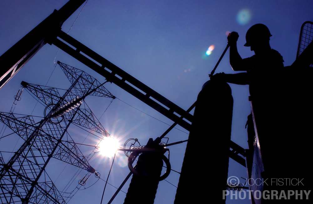 Reportage for Elia Annual Report:<br /> <br /> Construction of an electric power substation in Amay, Belgium. Elia is Belgium's high-voltage transmission system operator.
