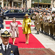 LUX/Luxemburg/20180523 - Staatsbezoek Luxemburg dag 1 , Koningin Maxima en Groothertogin Maria Teresa