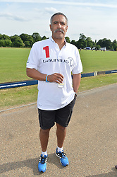 DALEY THOMPSON at the Laureus Polo held at Ham Polo Club, Ham, Richmond, Surrey on 18th June 2015.