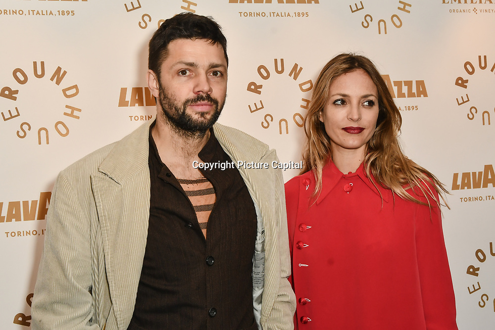 Conrad Shawcross,Carolina Mazzocari attend Biennial fundraiser in aid of The Roundhouse Trust which helps 3000  11-25 year-olds from all backgrounds to realise their creative potential through opportunities in music, media and performing arts on 14 March 2019 at Roundhouse Gala, London, UK.