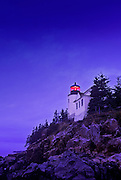 Image of the Bass Harbor Head Lighthouse at Acadia National Park on the coast of Maine, American Northeast