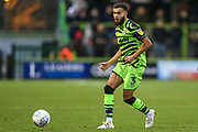 Forest Green Rovers Dominic Bernard(3) passes the ball forward during the EFL Sky Bet League 2 match between Forest Green Rovers and Scunthorpe United at the New Lawn, Forest Green, United Kingdom on 7 December 2019.