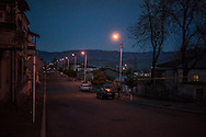 STEPANAKERT, NAGORNO-KARABAKH - APRIL 17: A man washes his car as evening falls on February 21, 2015 in Stepanakert, Nagorno-Karabakh. Since signing a ceasefire in a war with Azerbaijan in 1994, Nagorno-Karabakh has functioned as a de facto part of Armenia, with hostilities along the line of contact between Nagorno-Karabakh and Azerbaijan occasionally flaring up and causing casualties. (Photo by Brendan Hoffman/Getty Images) *** Local Caption ***