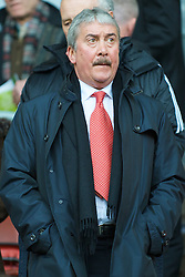 LIVERPOOL, ENGLAND - Saturday, March 8, 2008: Liverpool's Honorary Life President David Moores during the Premiership match at Anfield. (Photo by David Rawcliffe/Propaganda)