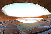 Construction of Soccer City Stadium, Johannesburg - venue for FIFA 2010 South Africa World Cup Final.