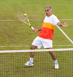 Liverpool, England - Saturday, June 16, 2007: Mansour Bahrami on day five of the Liverpool International Tennis Tournament at Calderstones Park. For more information visit www.liverpooltennis.co.uk. (Pic by David Rawcliffe/Propaganda)