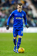 Ryan Kent (#14) of Rangers FC during the Ladbrokes Scottish Premiership match between Hibernian and Rangers at Easter Road, Edinburgh, Scotland on 8 March 2019.