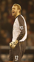 Photo: Aidan Ellis.<br /> Sheffield United v Manchester City. The Barclays Premiership. 26/12/2006.<br /> City keeper Nicky Weaver enjoys victory at the end after being taunted by Sheffield fans