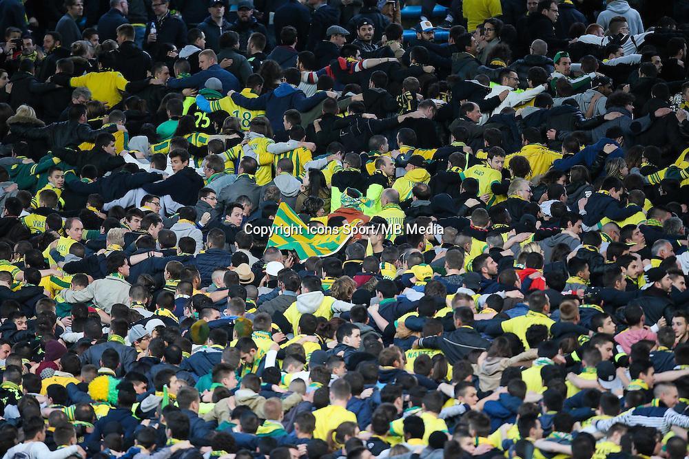 Supporters Nantes - 03.05.2015 - Nantes / Paris Saint Germain - 35eme journee de Ligue 1<br /> Photo : Vincent Michel / Icon Sport