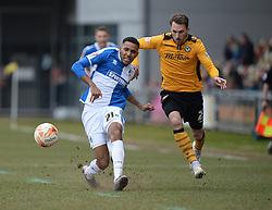 Cristian Montano of Bristol Rovers passes the ball. - Mandatory byline: Alex James/JMP - 19/03/2016 - FOOTBALL - Rodney Parade - Newport, England - Newport County v Bristol Rovers - Sky Bet League Two