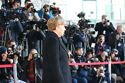 23.03.2015, Bundeskanzleramt, Berlin, GER, SPO, Merkel empfängt Tsipras, im Bild Bundeskanzlerin Angela Merkel (CDU) wartet auf ihren Gast, Empfang des griechischen Ministerpraesidenten Alexis Tsipras // German Chancellor Angela Merkel welcomes Greek Prime Minister Alexis Tsipras at the Bundeskanzleramt in Berlin, Germany on 2015/03/23. EXPA Pictures © 2015, PhotoCredit: EXPA/ Eibner-Pressefoto/ Hundt<br /> <br /> *****ATTENTION - OUT of GER*****