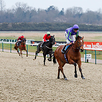Stand Guard and L P Keniry winning the 2.00 race