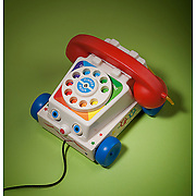 Fischer-Price Chatter Telephone pull toy.