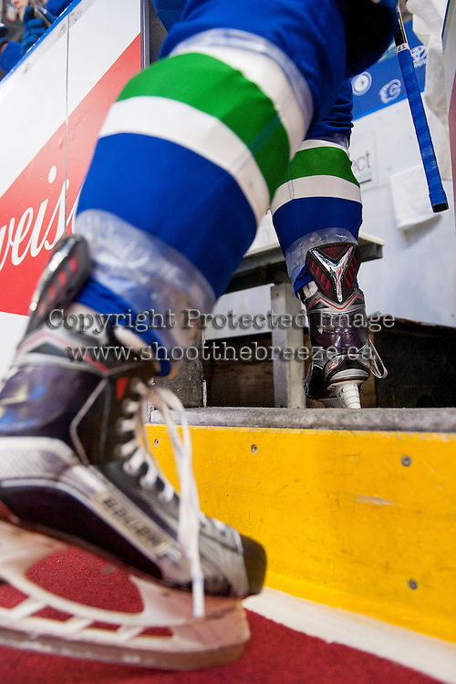 PENTICTON, CANADA - SEPTEMBER 16: Vancouver Canucks against the Edmonton Oilers on September 16, 2016 at the South Okanagan Event Centre in Penticton, British Columbia, Canada.  (Photo by Marissa Baecker/Shoot the Breeze)  *** Local Caption ***