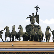 Chariot of Victory on the arch of the General Staff Building in Palace Square, Saint Petersburg.<br /> Photography by Jose More