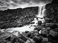 Öxarárfoss in Þingvellir National Park, Iceland