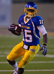 October 10, 2009; San Jose, CA, USA;  San Jose State Spartans running back Brandon Rutley (15) during the third quarter against the Idaho Vandals at Spartan Stadium.  Idaho won 29-25.