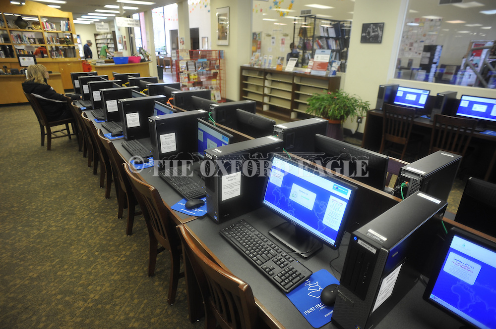 There are new computers at the Lafayette County and Oxford Public Library, in Oxford, Miss. on Wednesday, February 20, 2013.