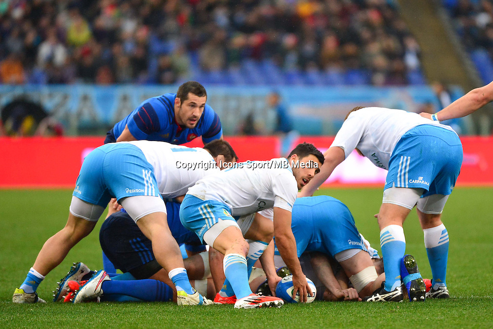 Edoardo GORI - 15.03.2015 - Rugby - Italie / France - Tournoi des VI Nations -Rome<br /> Photo : David Winter / Icon Sport