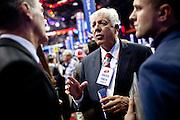 Foster Friess networks on the floor of the Republican National Convention in Tampa, Florida, August 29, 2012.
