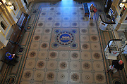 New Zealand, South Island, Otago, Dunedin Tiled Floor Railway Station