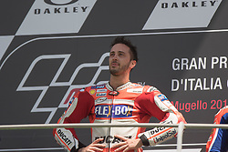 June 4, 2017 - Mugello, Italy - Andrea DOVIZIOSO ITA Ducati , during the podium Day 3 Race at the Mugello International Cuircuit for the sixth round of MotoGP World Championship Gran Premio d'Italia Oakley  on June 4, 2017. (Credit Image: © Fabio Averna/NurPhoto via ZUMA Press)