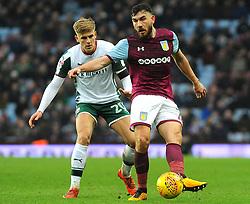 Brad Potts of Barnsley applies pressure on Robert Snodgrass of Aston Villa -Mandatory by-line: Nizaam Jones/JMP - 20/01/2018 - FOOTBALL - Villa Park - Birmingham, England - Aston Villa v Barnsley- Sky Bet Championship