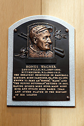 Honus Wagner plaque, National Baseball Hall of Fame and Museum, Cooperstown, New York, United States of America
