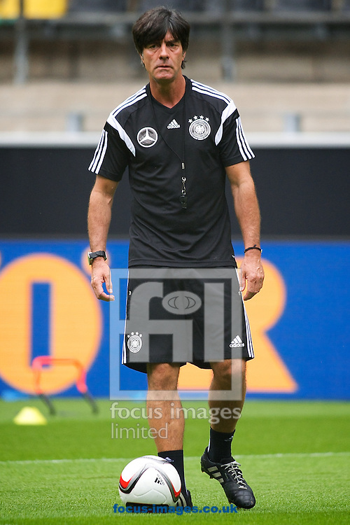 Germany manager Joachim L&ouml;w pictured during Germany training at Signal Iduna Park, Dortmund<br /> Picture by Ian Wadkins/Focus Images Ltd +44 7877 568959<br /> 06/09/2014