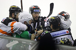 29.01.2017, Hala Tivoli, Ljubljana, SLO, EBEL, HDD Olimpija Ljubljana vs Moser Medical Graz 99ers, Platzierungsrunde, im Bild Roughing between players // during the Erste Bank Icehockey League placement round match between HDD Olimpija Ljubljana and Moser Medical Graz 99ers at the Hala Tivoli in Ljubljana, Slovenia on 2017/01/29. EXPA Pictures © 2017, PhotoCredit: EXPA/ Sportida/ Morgan Kristan<br /> <br /> *****ATTENTION - OUT of SLO, FRA*****